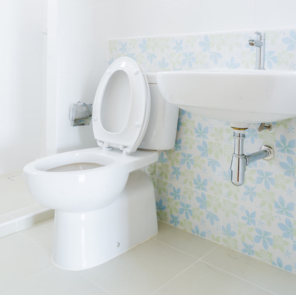removing hard water stains toilets